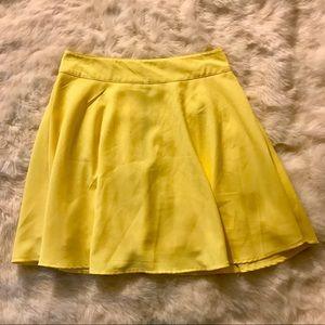 Blu Pepper bright yellow spring sunny circle skirt